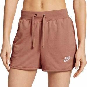 Nike Sportswear Jersey Shorts M Rose Gold